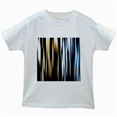 Digitally Created Striped Abstract Background Texture Kids White T-Shirts