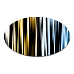 Digitally Created Striped Abstract Background Texture Oval Magnet