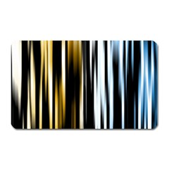 Digitally Created Striped Abstract Background Texture Magnet (Rectangular)