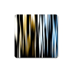 Digitally Created Striped Abstract Background Texture Square Magnet