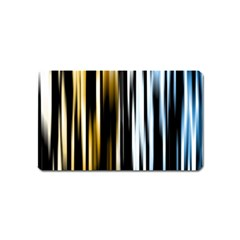 Digitally Created Striped Abstract Background Texture Magnet (Name Card)