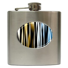 Digitally Created Striped Abstract Background Texture Hip Flask (6 oz)