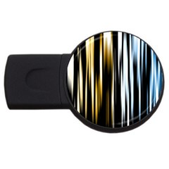 Digitally Created Striped Abstract Background Texture USB Flash Drive Round (2 GB)