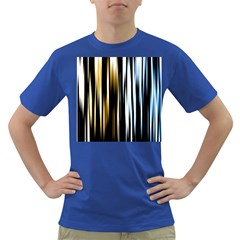 Digitally Created Striped Abstract Background Texture Dark T-Shirt