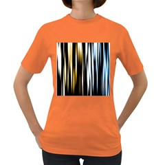 Digitally Created Striped Abstract Background Texture Women s Dark T-Shirt