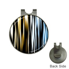 Digitally Created Striped Abstract Background Texture Hat Clips with Golf Markers