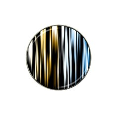 Digitally Created Striped Abstract Background Texture Hat Clip Ball Marker (4 pack)