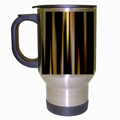 Digitally Created Striped Abstract Background Texture Travel Mug (Silver Gray)