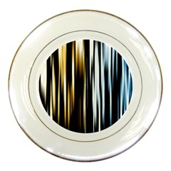 Digitally Created Striped Abstract Background Texture Porcelain Plates