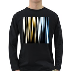 Digitally Created Striped Abstract Background Texture Long Sleeve Dark T-Shirts