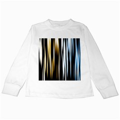 Digitally Created Striped Abstract Background Texture Kids Long Sleeve T-Shirts