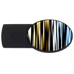 Digitally Created Striped Abstract Background Texture USB Flash Drive Oval (4 GB)