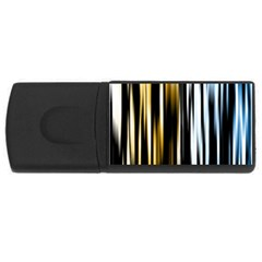 Digitally Created Striped Abstract Background Texture USB Flash Drive Rectangular (4 GB)