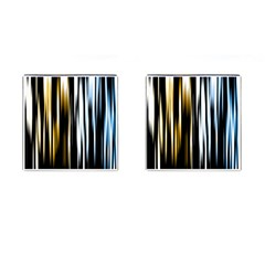 Digitally Created Striped Abstract Background Texture Cufflinks (Square)