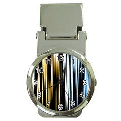 Digitally Created Striped Abstract Background Texture Money Clip Watches