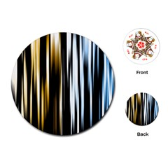 Digitally Created Striped Abstract Background Texture Playing Cards (Round)