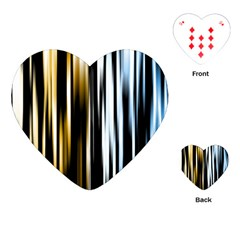 Digitally Created Striped Abstract Background Texture Playing Cards (Heart)