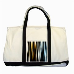 Digitally Created Striped Abstract Background Texture Two Tone Tote Bag