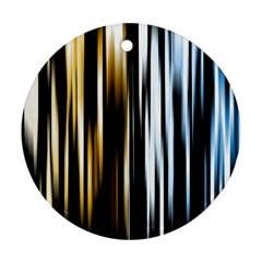 Digitally Created Striped Abstract Background Texture Round Ornament (Two Sides)