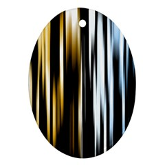 Digitally Created Striped Abstract Background Texture Oval Ornament (Two Sides)