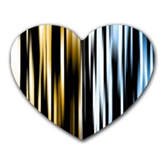 Digitally Created Striped Abstract Background Texture Heart Mousepads