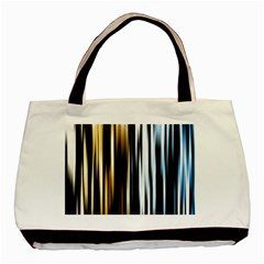 Digitally Created Striped Abstract Background Texture Basic Tote Bag (Two Sides)