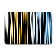 Digitally Created Striped Abstract Background Texture Small Doormat