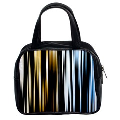 Digitally Created Striped Abstract Background Texture Classic Handbags (2 Sides)