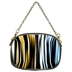 Digitally Created Striped Abstract Background Texture Chain Purses (One Side)