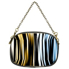 Digitally Created Striped Abstract Background Texture Chain Purses (Two Sides)