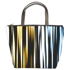 Digitally Created Striped Abstract Background Texture Bucket Bags
