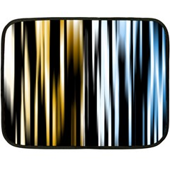 Digitally Created Striped Abstract Background Texture Fleece Blanket (Mini)