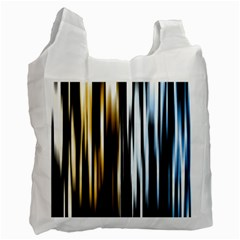 Digitally Created Striped Abstract Background Texture Recycle Bag (One Side)