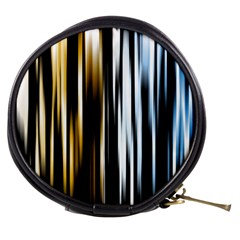 Digitally Created Striped Abstract Background Texture Mini Makeup Bags