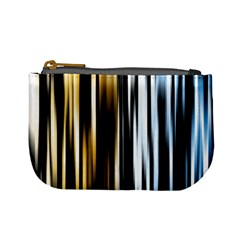 Digitally Created Striped Abstract Background Texture Mini Coin Purses