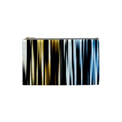 Digitally Created Striped Abstract Background Texture Cosmetic Bag (Small)