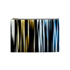 Digitally Created Striped Abstract Background Texture Cosmetic Bag (Medium)