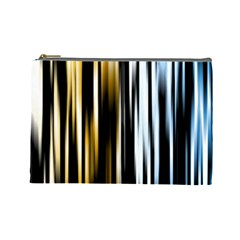 Digitally Created Striped Abstract Background Texture Cosmetic Bag (Large)
