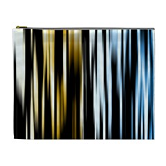 Digitally Created Striped Abstract Background Texture Cosmetic Bag (XL)