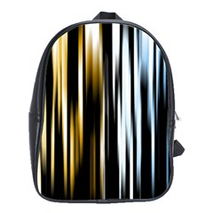 Digitally Created Striped Abstract Background Texture School Bags(Large)