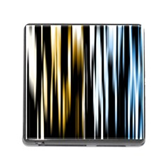 Digitally Created Striped Abstract Background Texture Memory Card Reader (Square)