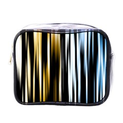 Digitally Created Striped Abstract Background Texture Mini Toiletries Bags