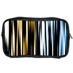Digitally Created Striped Abstract Background Texture Toiletries Bags 2-Side