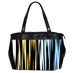Digitally Created Striped Abstract Background Texture Office Handbags (2 Sides)