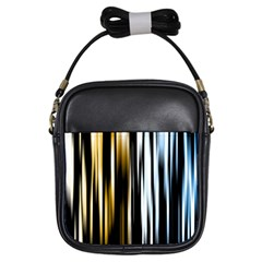 Digitally Created Striped Abstract Background Texture Girls Sling Bags