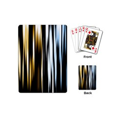 Digitally Created Striped Abstract Background Texture Playing Cards (Mini)