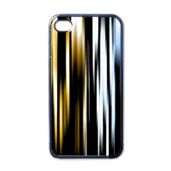 Digitally Created Striped Abstract Background Texture Apple iPhone 4 Case (Black)