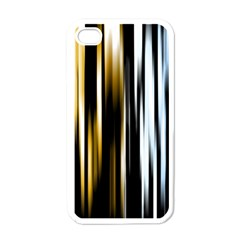 Digitally Created Striped Abstract Background Texture Apple iPhone 4 Case (White)