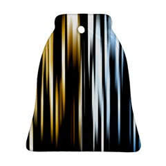 Digitally Created Striped Abstract Background Texture Bell Ornament (Two Sides)