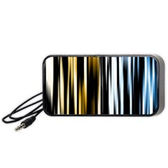 Digitally Created Striped Abstract Background Texture Portable Speaker (Black)